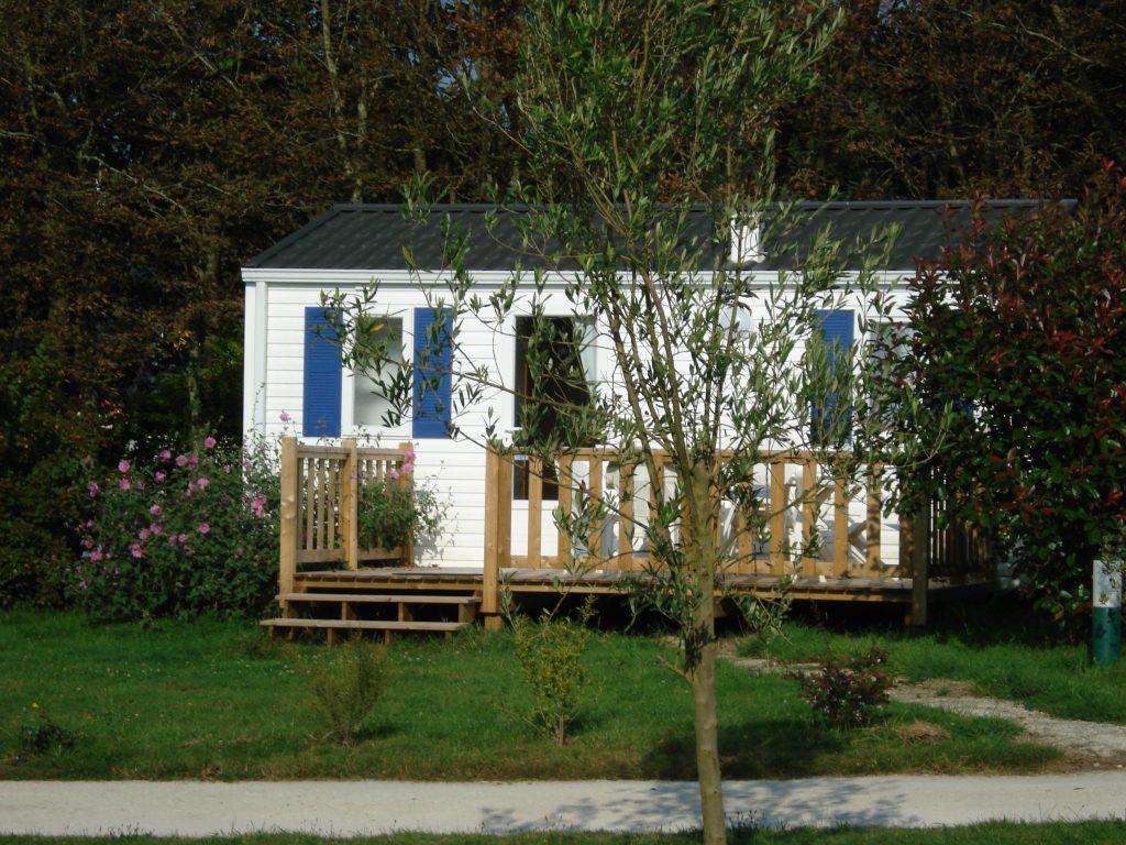 Camping Pouldreuzic mobil-home Modulo avec terrasse