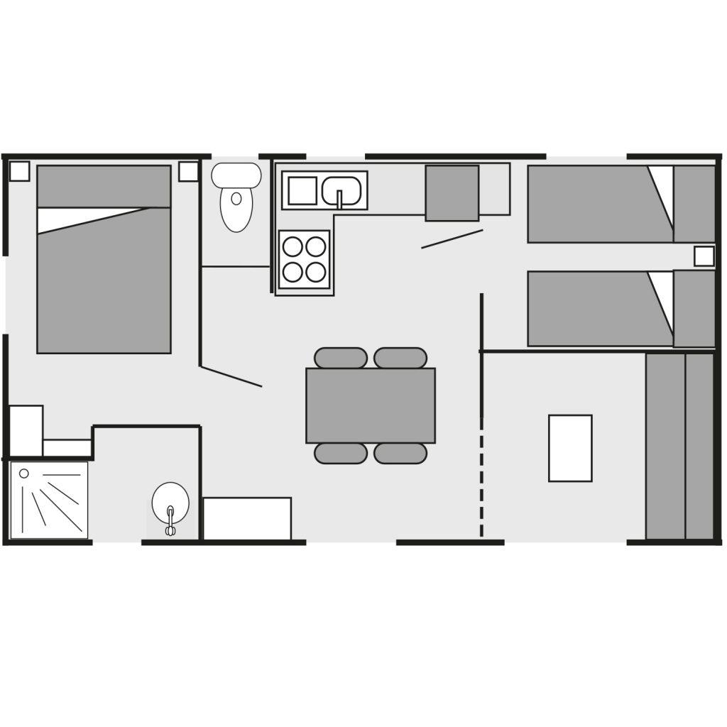 Plan du mobil-home Bermudes