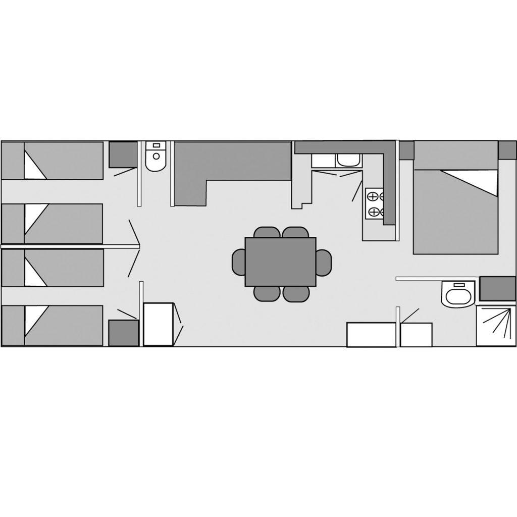 Plan du mobil-home Flores