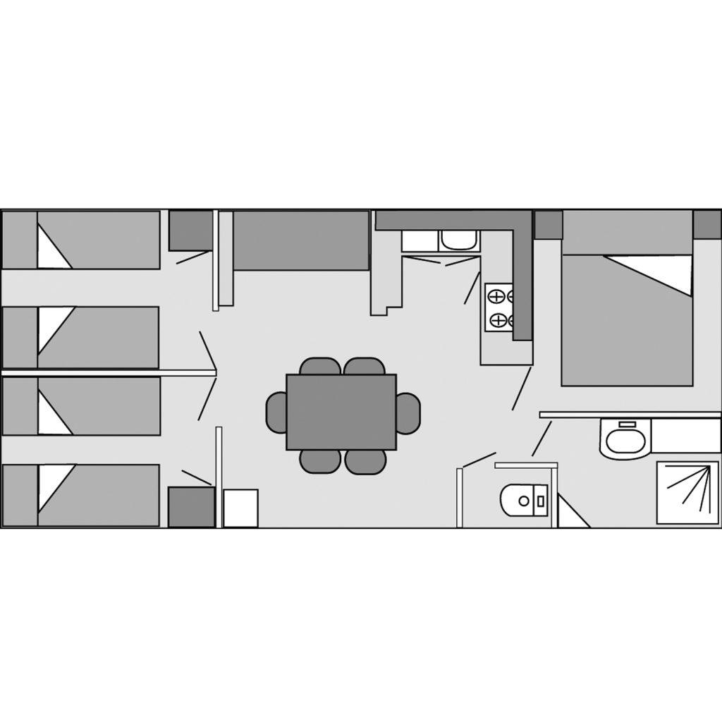 Plan du mobil-home Tamaris
