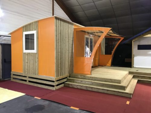 Mobil-home Elite toile et bois exterieur